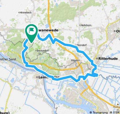 (Bremen-Lemwerder) - Schwanewede Ritterhude Vegesack