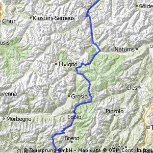 Alpenüberquerung mit dem Rennrad (hart)