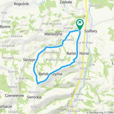 C - Szaflary-Bańska N.-Bańska W.-Skrzypne - proponowana trasa rowerowa