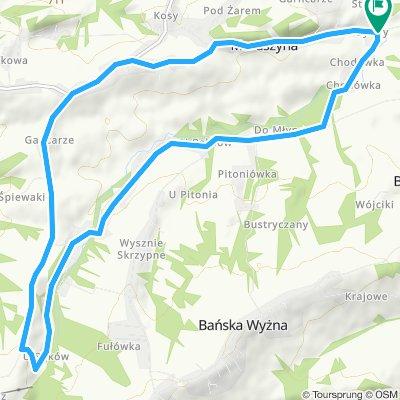 E - Maruszyna-Skrzypne - proponowana trasa rowerowa