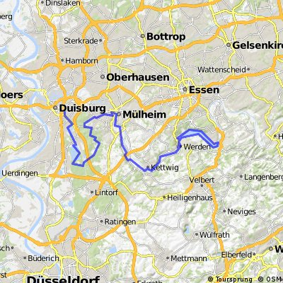 Cycling routes and bike maps in and around Duisburg Bikemap Your