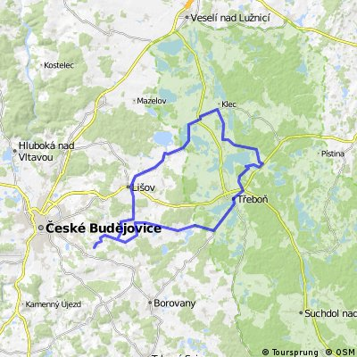 Třebotovice - Lomnice n/Lužnicí - Třeboň