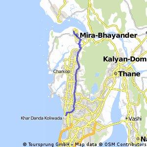 Mira-Bhayander - Bandra West