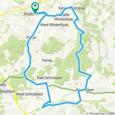 Dean Hill Bentley Wood MTB loop