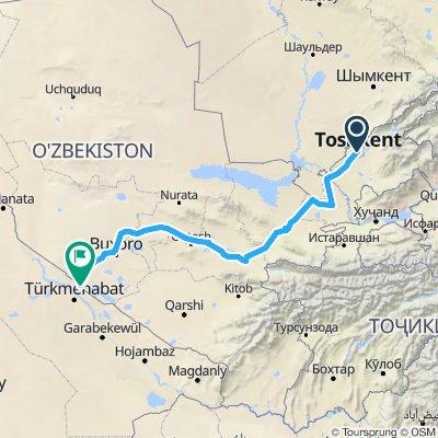 Uzbekistan ,across