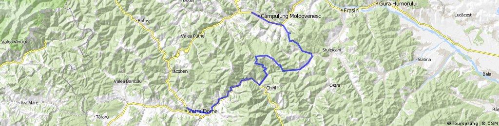 Vatra Dornei- Chiril -Rarau-Popii Raraului-Gemenea-Slatioara-Campulung