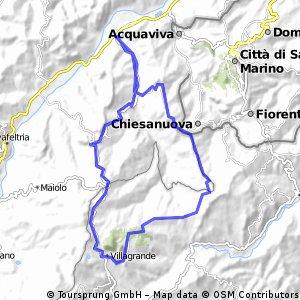 C-Villanova 2    Pieve Corena nach San Leo