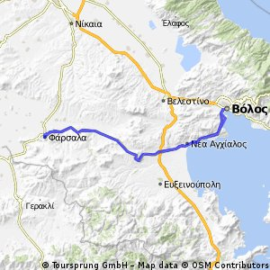 Cycling routes and bike maps in and around Volos Bikemap Your