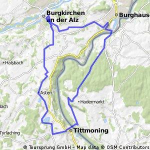 Burgkirchen - Nonnreit - Tittmoning - Burghausen - Burgkirchen