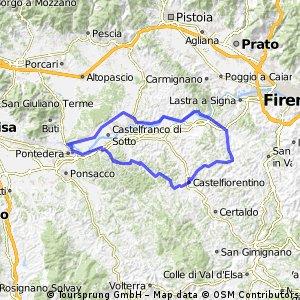 Percorso Allenamento Team Fanelli bike - Montespertoli