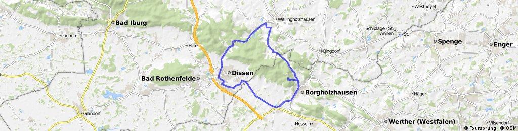Dissen Bhf -> Borgholzhausen Luisenturm - > Wellingholzhausen -> Dissen Bhf