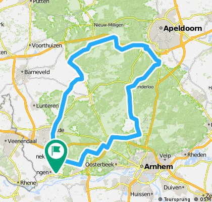 Bennekom-Kootwijk-Hoenderloo-Bennekom 81km
