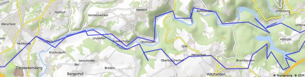 Sonntag Morgentour duch die Wupper-Berge bis zur Sengbachtalsperre.