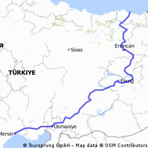 Cycling Routes And Bike Maps In And Around Mersin Bikemap Your - Mersin map