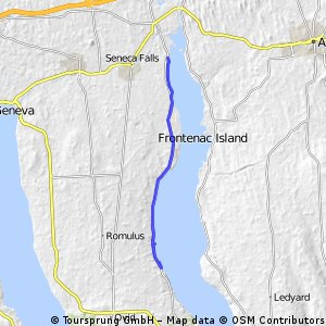 Scenic lakeshore route - N Cayuga Lake - Rte 89
