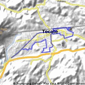 Tecate, RUTA de  25+ KM.
