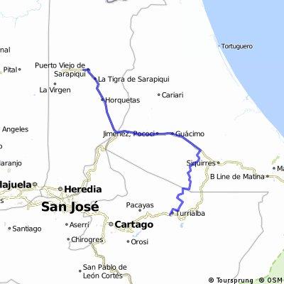 Turialba-Herediana (Siquirres) -Sarapique