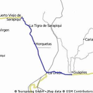 Guapiiles -  Puerto viejo de Sarapique