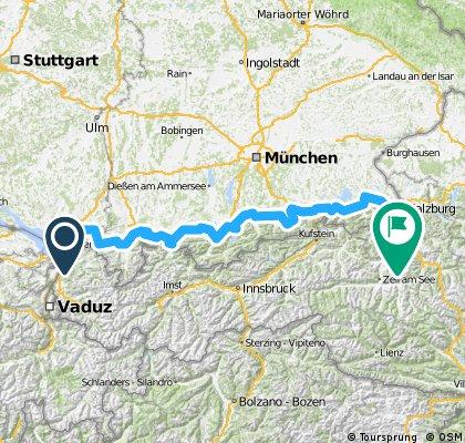 Bodensee-Königssee-Radweg von Lindau nach Berchtesgaden