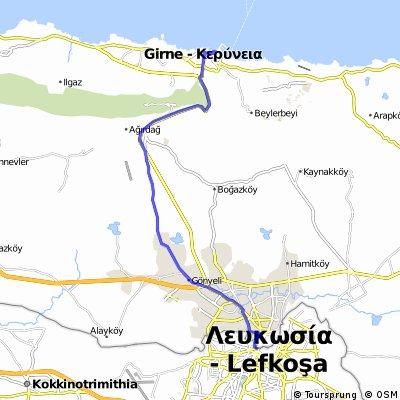 Scenic route Nicosia - Kyrenia