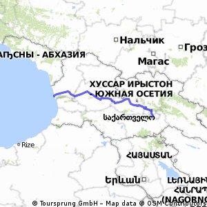 Tbilisi - Black Sea 353km