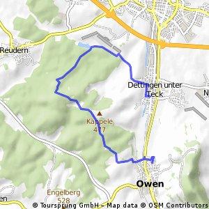 Owen-Käppele-Bürgersee-Bushaltest. Dettingen