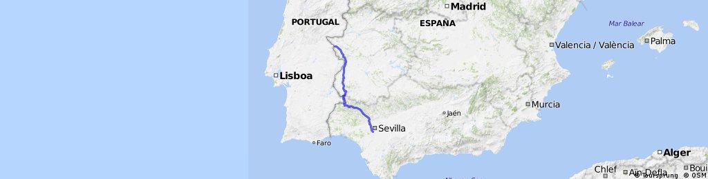 Valencia de Alcantara-Badajoz Aroche-Coria