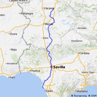 Trujillo-D Benito- Llerena-Via de la plata hasta Rota
