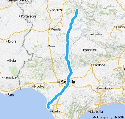 Guadalupe-Quintana de la Serena-Azuaga-Constantina- Utrera