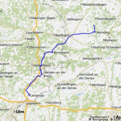 III. Etappe 130 Km Langenau-Neresheim