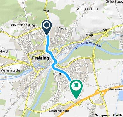 Quer durch 85354 Freising, Bayern, DE
