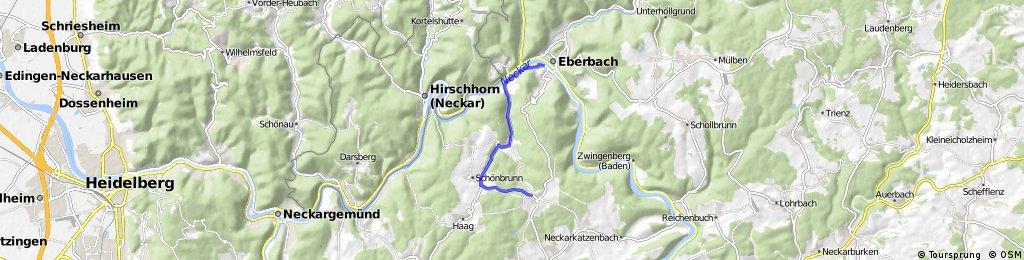 Radstrecke Triathlon Eberbach