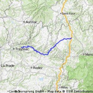 Santiago routier J02 Aumont Aubrac - Conques