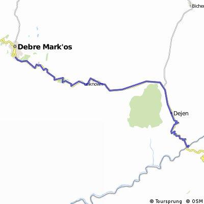 Reise 6 Strecke 3 Blue Nil-Debre Markos