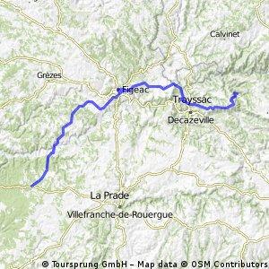 Santiago routier J03 Conques - Limogne en Quercy