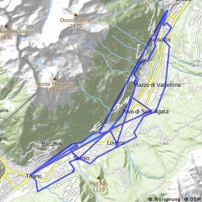 Sentiero dei Castelli Tirano - Grosio