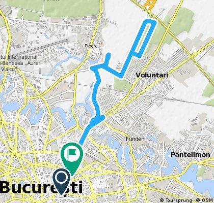 Bucuresti - Pipera - Voluntari - Padurea Boldu Cretuleasca