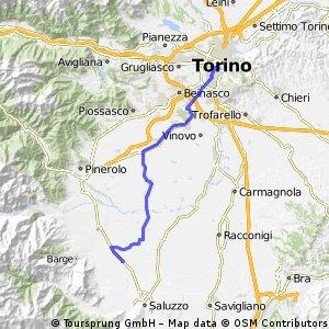 Dalla staz. di Torino all'abbazia di Staffarda
