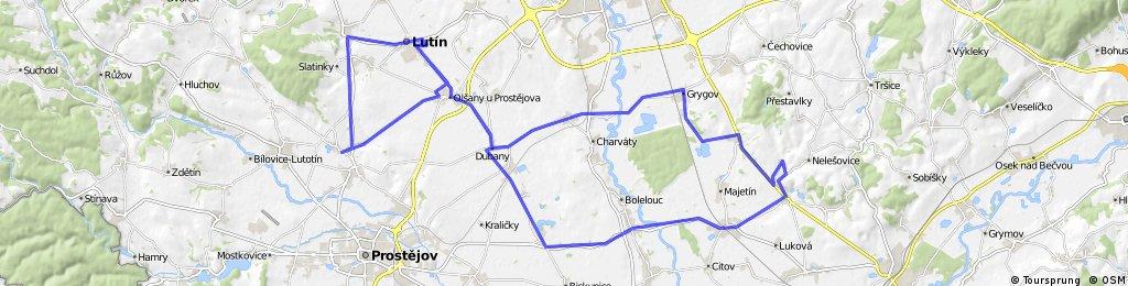 Lutín - Čelechovice na Hané - Lutín - Čelechovice - Dub na Moravě - Lutín