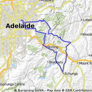 Cycling routes and bike maps in and around North Adelaide Bikemap