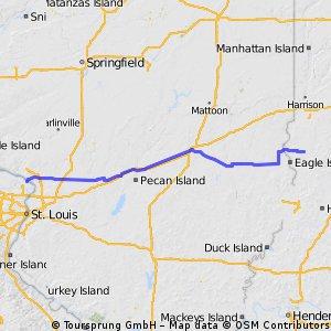 Etappe 14 Mississippi River - Sullivan