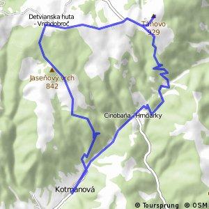 Z Kotmanovej cez najkrajšie vyhliadky juhu Sihlianskej planiny.