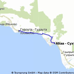 Cycling routes and bike maps in and around Sukhumi Bikemap Your