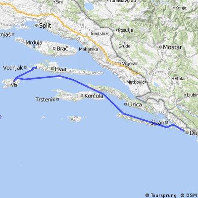 SAILING 3 days 3 isalnds Hvar - Dubrovnik