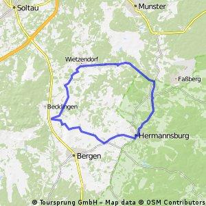 Wietzendorf Hermannsburg Reiningen (43 KM)