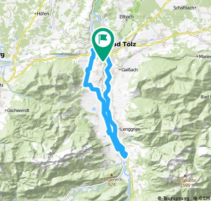MTB-Tölzer Waldherralm-Isartal-Tour-29km