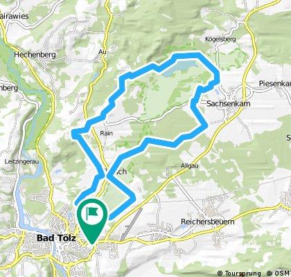 MTB-Kleine Tölzer Kirchsee-Runde-23km