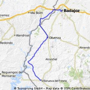 Badajoz-Olivenza-Villanueva del Fresno