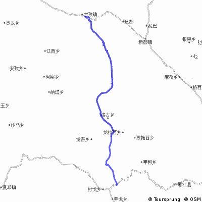 ganzizhen to litang via xinlongxian