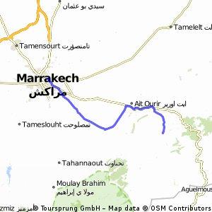 Maroc- Ziua 2-Marrakech- Intersectie P2016 cu P2021